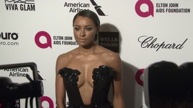 kat graham at the 23rd annual elton john aids foundation academy awards viewing party sponsored by chopard, neuro drinks and wells fargo on february... - platinum stock-videos und b-roll-filmmaterial