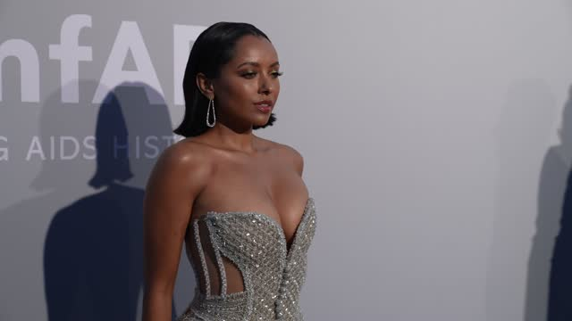 kat graham attends the amfar cannes gala 2021 at hotel villa eilenroc on july 16, 2021 in cap d'antibes, france. - gala stock videos & royalty-free footage