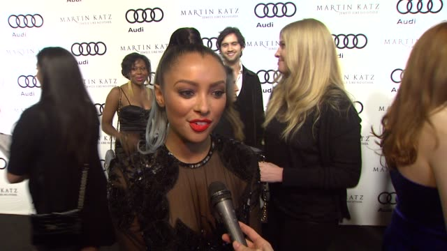 Kat Graham on kicking off Golden Globe week at this party what she's most looking forward to this evening at the Audi And Martin Katz Celebrate The...