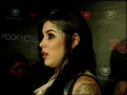 kat von d at the rolling stone magazine 40th anniversary party at hard rock hotel in las vegas, nevada on september 8, 2007. - ハードロックカフェ点の映像素材/bロール