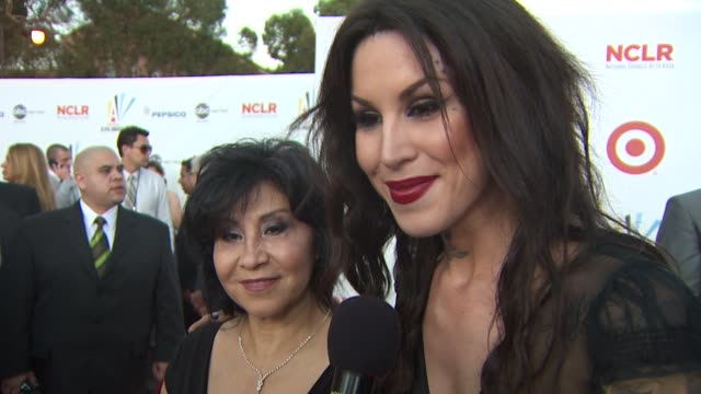 kat von d on the importance of the alma awards and her roll as a presenter at the 2009 alma awards at westwood los angeles ca - alma awards stock videos and b-roll footage