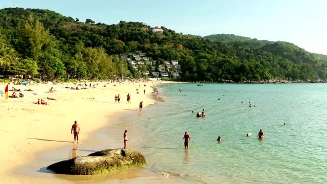 kata noi beach phuket island thailand - naturligt landmärke bildbanksvideor och videomaterial från bakom kulisserna