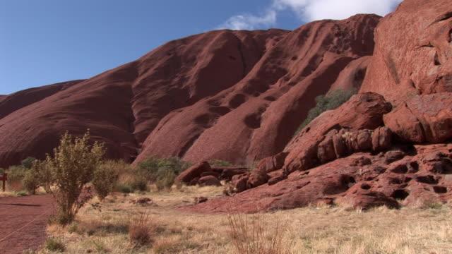 ms kata tjuta with vegetation in foreground, uluru-kata tjuta national park, northern territory, australia - sandstone stock videos and b-roll footage