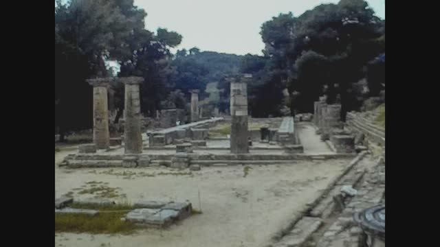 katakolon or olympia ruins archeological site in 70's - cyclades islands stock videos & royalty-free footage