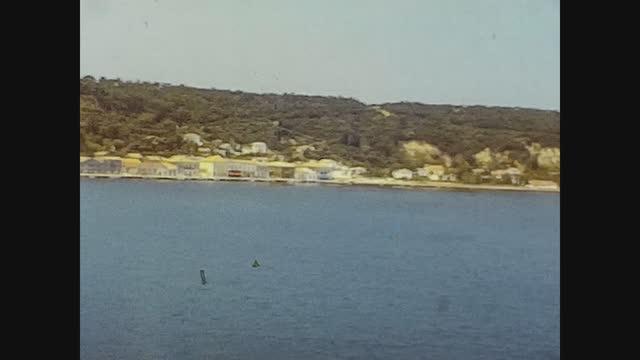 katakolon port view in 70's - cyclades islands stock videos & royalty-free footage
