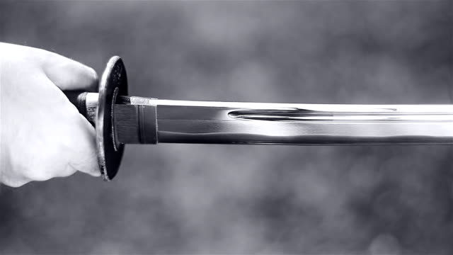 vídeos de stock e filmes b-roll de hd: katana espera e ataque - vingança
