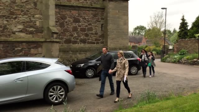 kate and gerry mccann arrive at rothley parish church where a service for madeleine and other missing children is taking place - kate mccann stock videos & royalty-free footage