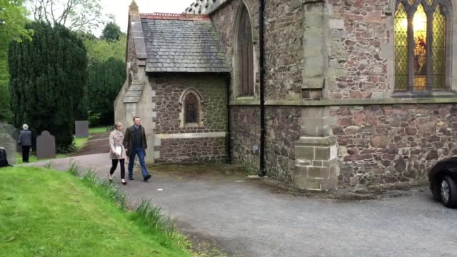 kate and gerry mccann leave the rothley parish church where a service for madeleine took place. - kate mccann stock-videos und b-roll-filmmaterial