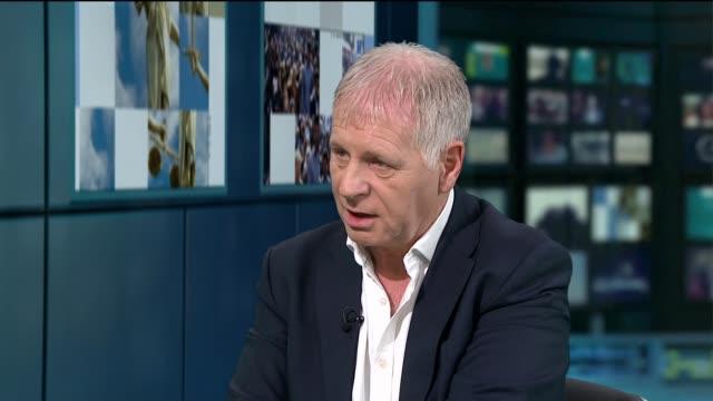 kate and jerry mccann family criticize netflix over madeleine mccann documentary; england: london: gir: int clarence mitchell live studio interview... - マデリン・マクカーン失踪事件点の映像素材/bロール