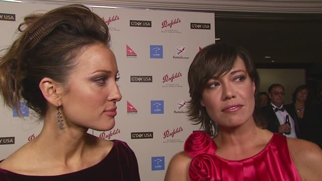 kate beahan and kimberly joseph on the event naomi watts and russell crowe at the 2007 penfolds icon black tie gala at hyatt regency century plaza in... - hyatt stock videos & royalty-free footage