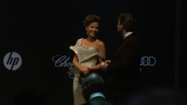 kate beckinsale and russell crowe at the amfar cinema against aids gala at antibes - russell crowe stock videos & royalty-free footage