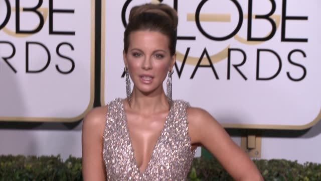 Kate Beckinsale at the 72nd Annual Golden Globe Awards Arrivals at The Beverly Hilton Hotel on January 11 2015 in Beverly Hills California