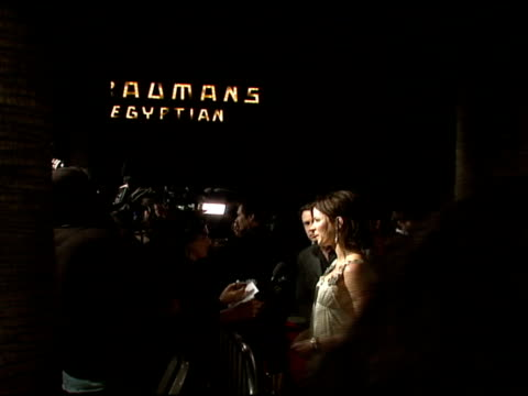 kate beckinsale at the 'snow angels' premiere at grauman's egyptian theatre in los angeles california on february 28 2008 - grauman's egyptian theatre stock videos & royalty-free footage