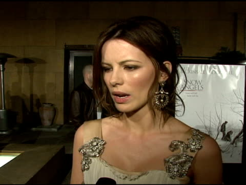 kate beckinsale on her character how much of herself she brought to the role the title and its meaning at the 'snow angels' premiere at grauman's... - grauman's egyptian theatre stock videos & royalty-free footage