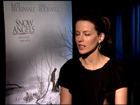 kate beckinsale on the emotional toll of playing her character at the 'snow angels' press junket at null in los angeles, california on february 27,... - kate snow stock videos & royalty-free footage