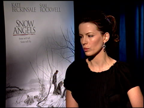kate beckinsale on what she would like the audience to take away from the film, and on her upcoming projects at the 'snow angels' press junket at... - kate snow stock videos & royalty-free footage