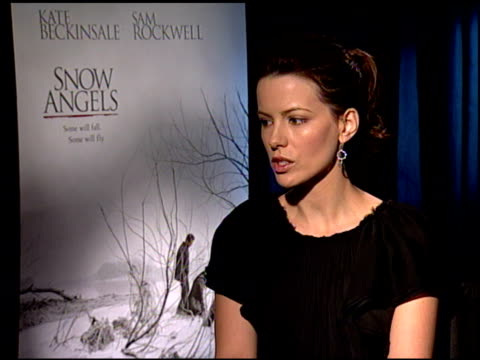 kate beckinsale on why she wanted to be a part of the film at the 'snow angels' press junket at null in los angeles, california on february 27, 2008. - kate snow stock videos & royalty-free footage