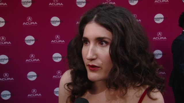 "interview kate berlant on boots riley at sundance institute at sundown – vanguard award presentation and ""sorry to bother you"" special screening in... - proiezione evento pubblicitario video stock e b–roll"