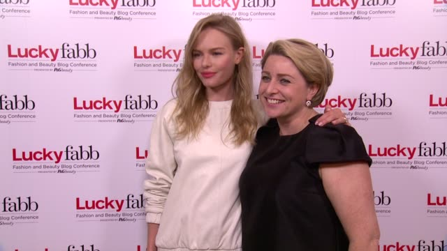 Kate Bosworth and Gillian Gorman at Lucky Magazine Hosts FABB Fashion And Beauty Blog at the Times Center on 10/24/13 in New York NY