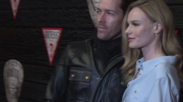 Kate Bosworth and Michael Polish at GUESS Celebrates New York Fashion Week On The Road To Nashville on February 11 2014 in New York City