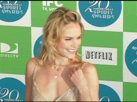 Kate Bosworth at the 20th Annual Independent Spirit Awards Arrivals and Interviews at Santa Monica in Santa Monica California on February 26 2005