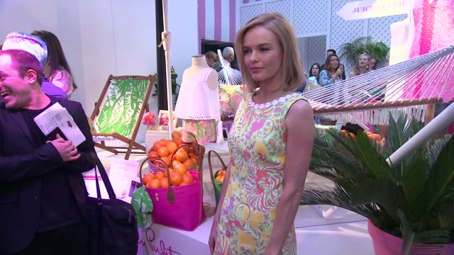 kate bosworth at the lilly pulitzer for target event at bryant park grill on april 15 2015 in new york city - kate bosworth stock-videos und b-roll-filmmaterial