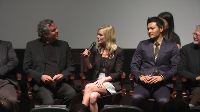 kate bosworth on preparing for the martial arts sequences at the 'the warrior's way' junket panel at los angeles ca - kate bosworth stock-videos und b-roll-filmmaterial