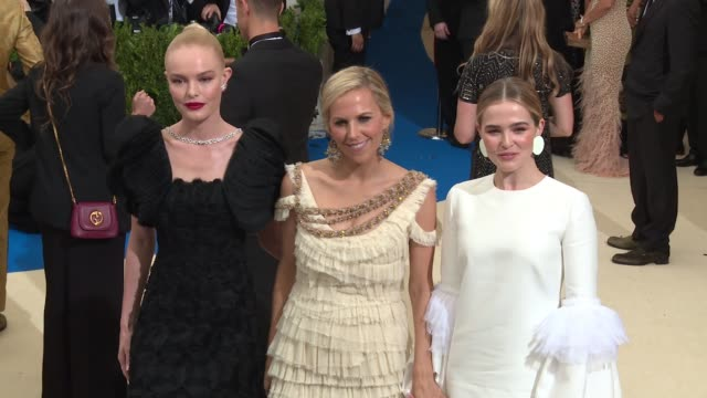 Kate Bosworth Tory Burch and Zoey Deutch at 'Rei Kawakubo/Comme des Garcons Art Of The InBetween' Costume Institute Gala Arrivals at The Metropolitan...