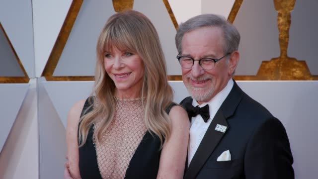 stockvideo's en b-roll-footage met kate capshaw and steven spielberg at 90th academy awards arrivals at dolby theatre on march 04 2018 in hollywood california - steven spielberg