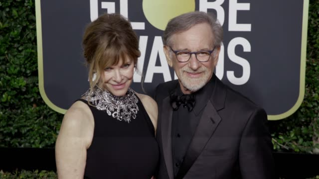 Kate Capshaw and Steven Spielberg at the 75th Annual Golden Globe Awards at The Beverly Hilton Hotel on January 07 2018 in Beverly Hills California