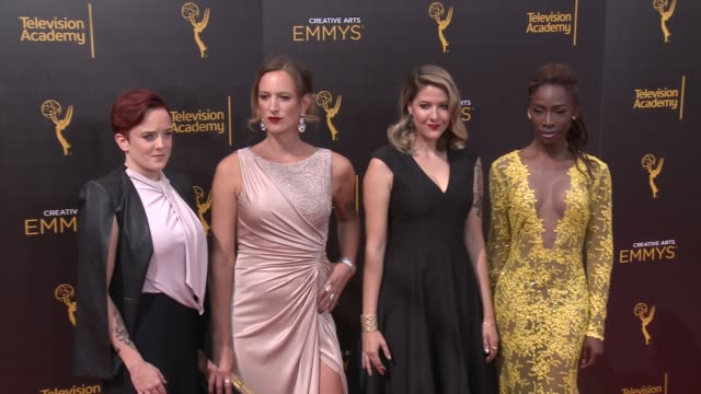 kate fisher jen richards laura zak angelica ross at 2016 creative arts emmy awards day 2 in los angeles ca - jen richards stock videos & royalty-free footage