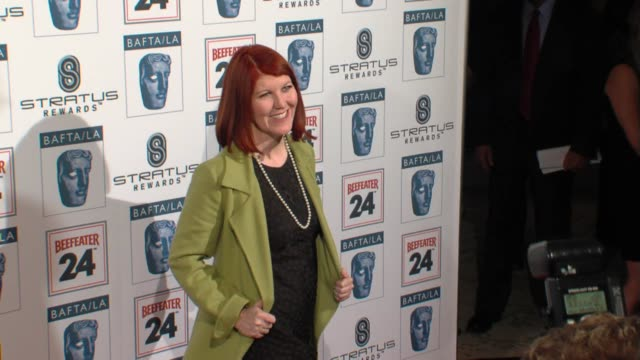 kate flannery at the bafta la's 16th annual awards season tea party at beverly hills ca - bafta la tea party stock videos and b-roll footage
