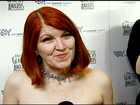 Kate Flannery on the event and the responsibility of people for animals at the 2008 Genesis Awards at the Beverly Hilton in Beverly Hills California...