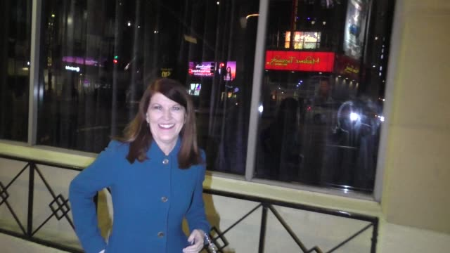 interview kate flannery talks about her nfl skits outside the spies in disguise premiere at el capitan theatre in hollywood in celebrity sightings in... - vignette stock videos & royalty-free footage