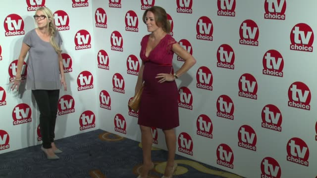 kate garraway, gillian taylforth, emma willis, natalie pinkham and natalie lowe at the tv choice awards 2014 on 8th september 2014 in london, england. - gillian taylforth stock videos & royalty-free footage