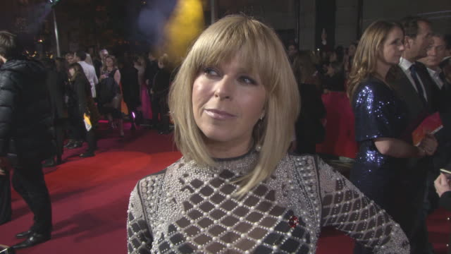 INTERVIEW Kate Garraway on being at the ITV Gala at ITV Gala at London Palladium on November 9 2017 in London England
