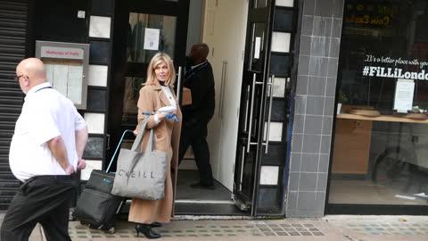 kate garraway seen arriving at smooth radio studios at global radio in leicester square at london celebrity sightings - november 20 2020 in london,... - celebrity sightings stock videos & royalty-free footage