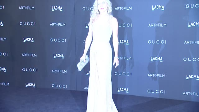 kate hudson at 2014 lacma artfilm gala honoring barbara kruger and quentin tarantino presented by gucci in los angeles ca - kate hudson stock videos & royalty-free footage