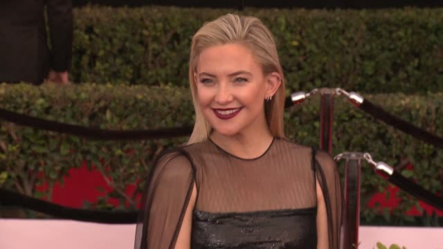 kate hudson at 23rd annual screen actors guild awards arrivals in los angeles ca - kate hudson stock videos & royalty-free footage