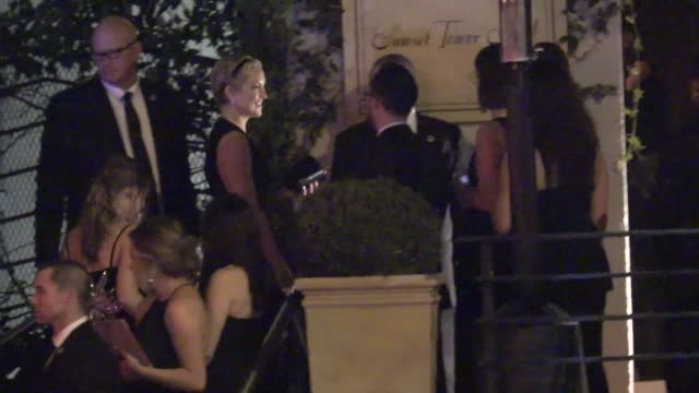 kate hudson at golden globe awards after party at sunset towers in west hollywood in celebrity sightings in los angeles - kate hudson stock videos & royalty-free footage