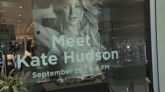 atmosphere kate hudson at kate hudson/fabletics x cfda collaboration instore appearance at del amo fashion center on september 26 2017 in torrance... - kate hudson stock videos & royalty-free footage