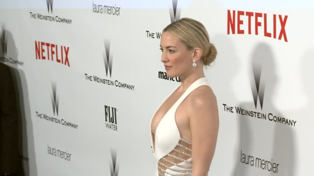 stockvideo's en b-roll-footage met kate hudson at the 2015 weinstein company and netflix golden globe after party at robinsons may lot on january 11, 2015 in beverly hills, california. - witte jurk