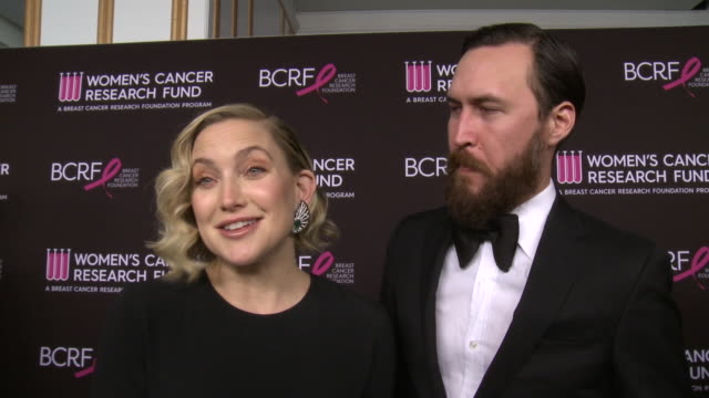 "interview kate hudson danny fujikawa on what it means to be receiving the courage award why this a cause thats close to her heart at wcrf's ""an... - kate hudson stock videos & royalty-free footage"