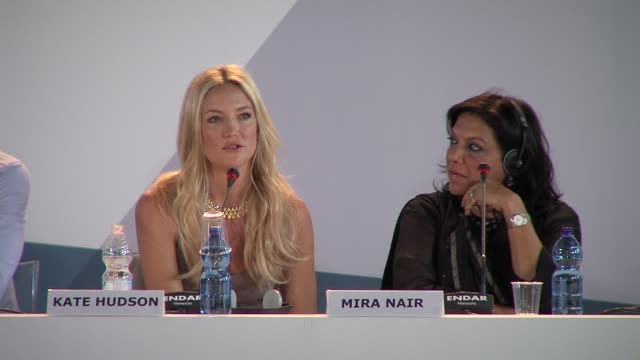 kate hudson, mira nair at press conference arrivals: the reluctant fundamentalist: 69th venice film festival on august 29, 2012 in venice, italy - fundamentalism stock videos & royalty-free footage