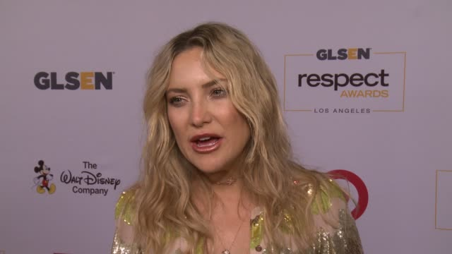 interview kate hudson on the event at 2016 glsen respect awards – los angeles in los angeles ca - kate hudson stock videos & royalty-free footage