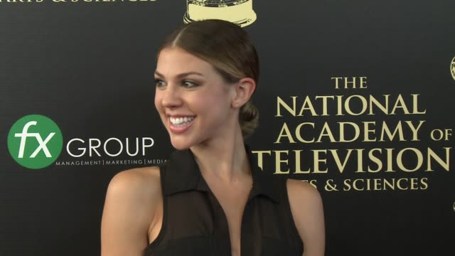 kate mansi at the 2014 daytime emmy awards at the beverly hilton hotel on june 22, 2014 in beverly hills, california. - the beverly hilton hotel点の映像素材/bロール