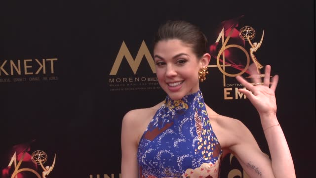 kate mansi at the 2019 daytime emmy awards at pasadena civic center on may 05 2019 in pasadena california - daytime emmy preisverleihung stock-videos und b-roll-filmmaterial
