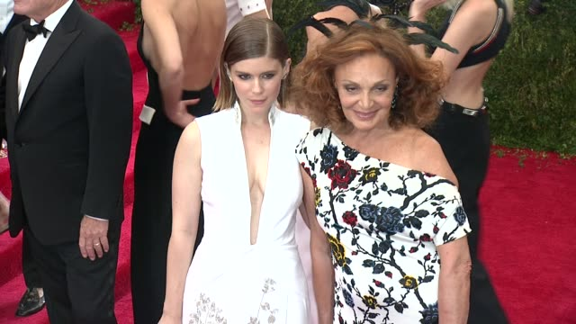 Kate Mara and Diane von Furstenberg at China Through The Looking Glass Costume Institute Benefit Gala Arrivals at Metropolitan Museum of Art on May...