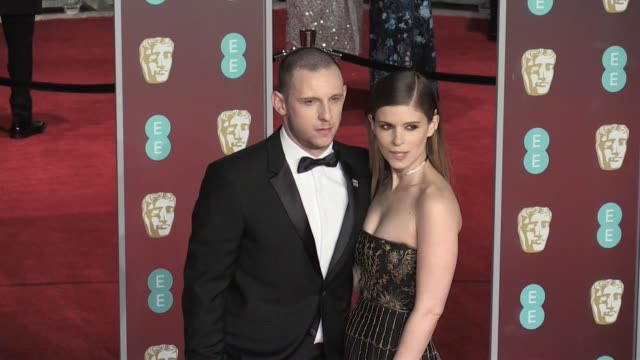kate mara and jamie bell on the red carpet of the 2018 bafta award ceremony in london london uk 18th february 2018 - kate mara stock videos and b-roll footage
