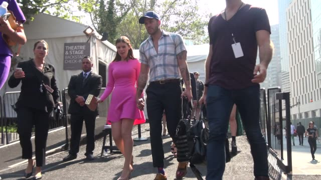 kate mara and johnny wujek at spring 2014 mercedesbenz fashion week in new york ny on 9/11/13 - kate mara stock videos and b-roll footage